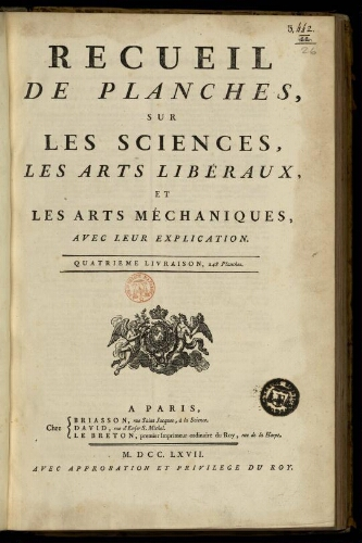 L'Encyclopédie. Volume 26. Planches 5