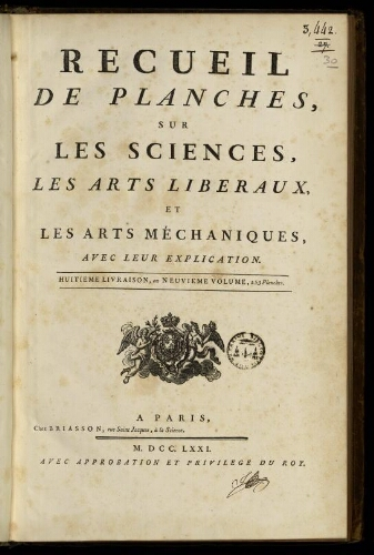L'Encyclopédie. Volume 30. Planches 9