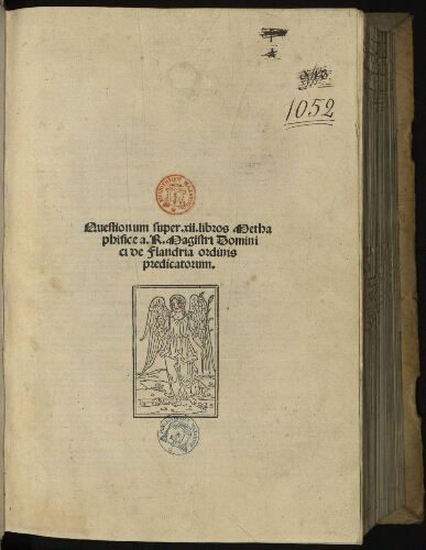 Quaestiones in commentaria Thomae de Aquino super Metaphysicis Aristotelis