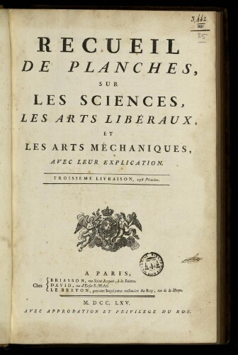 L'Encyclopédie. Volume 25. Planches 4