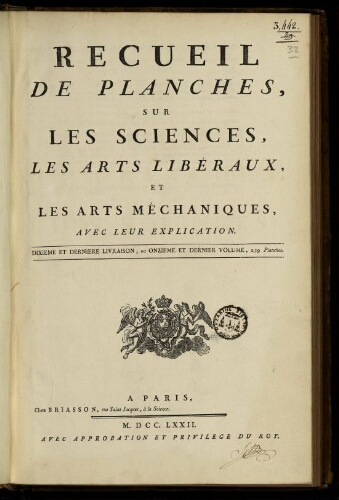 L'Encyclopédie. Volume 32. Planches 11
