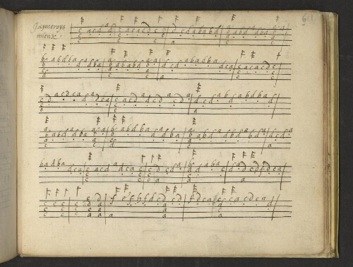 Tablatures manuscrites pour guitare à quatre cordes