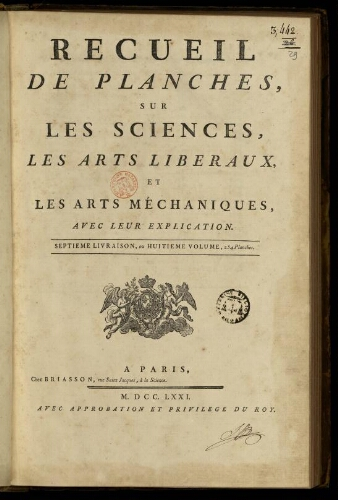 L'Encyclopédie. Volume 29. Planches 8