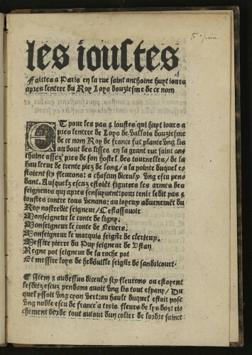 Entrée‎. Louis XII‎. Paris‎, 7 octobre 1498